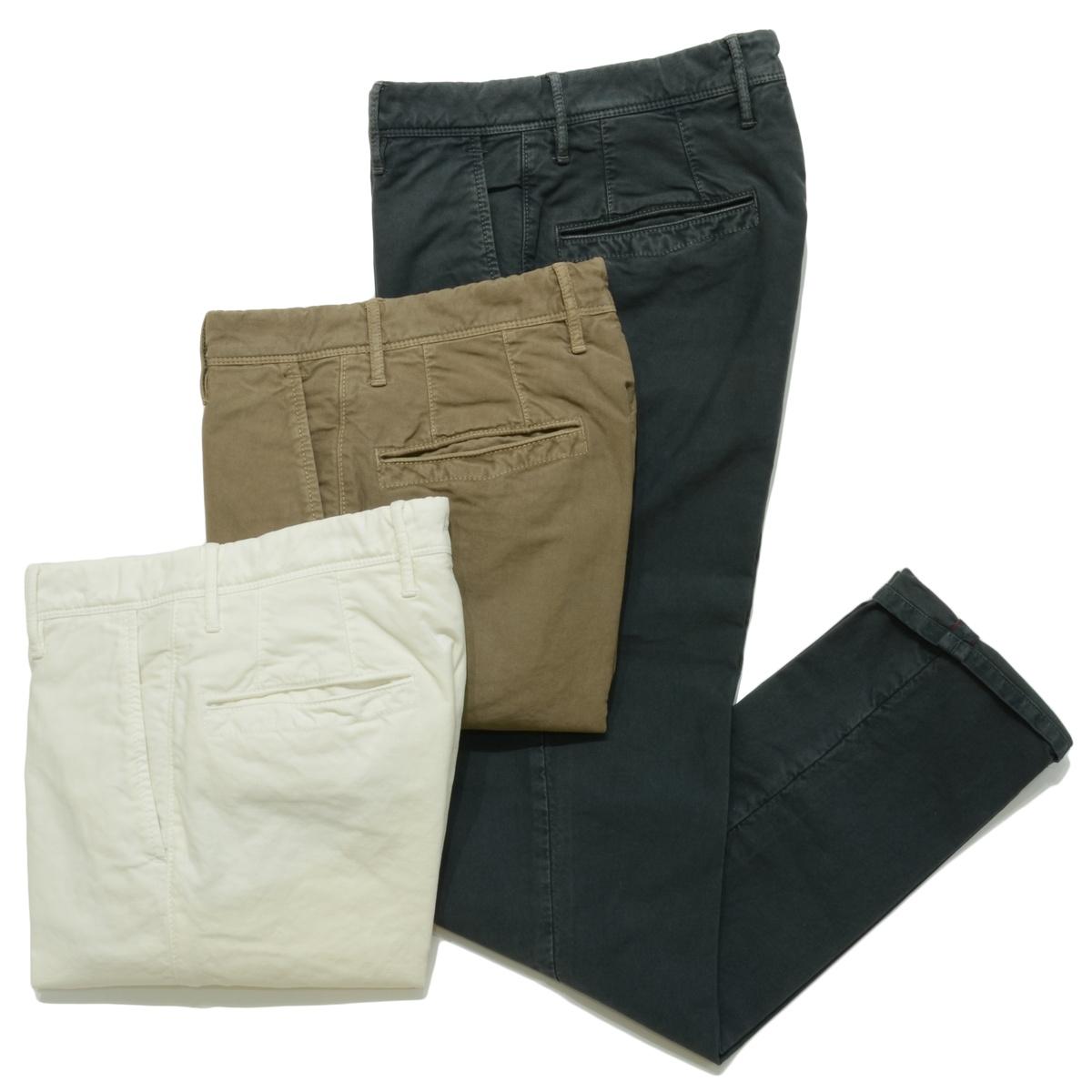 INCOTEX SLACKS 1ST603成衣染色绵伸斜纹圓錐裤子1ST603-4045713052003091