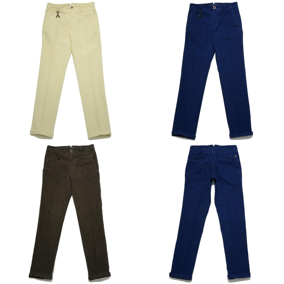 INCOTEX SLACKS 1ST603成衣染色伸胡扯条绒圓錐裤子1ST603-4045813052004091