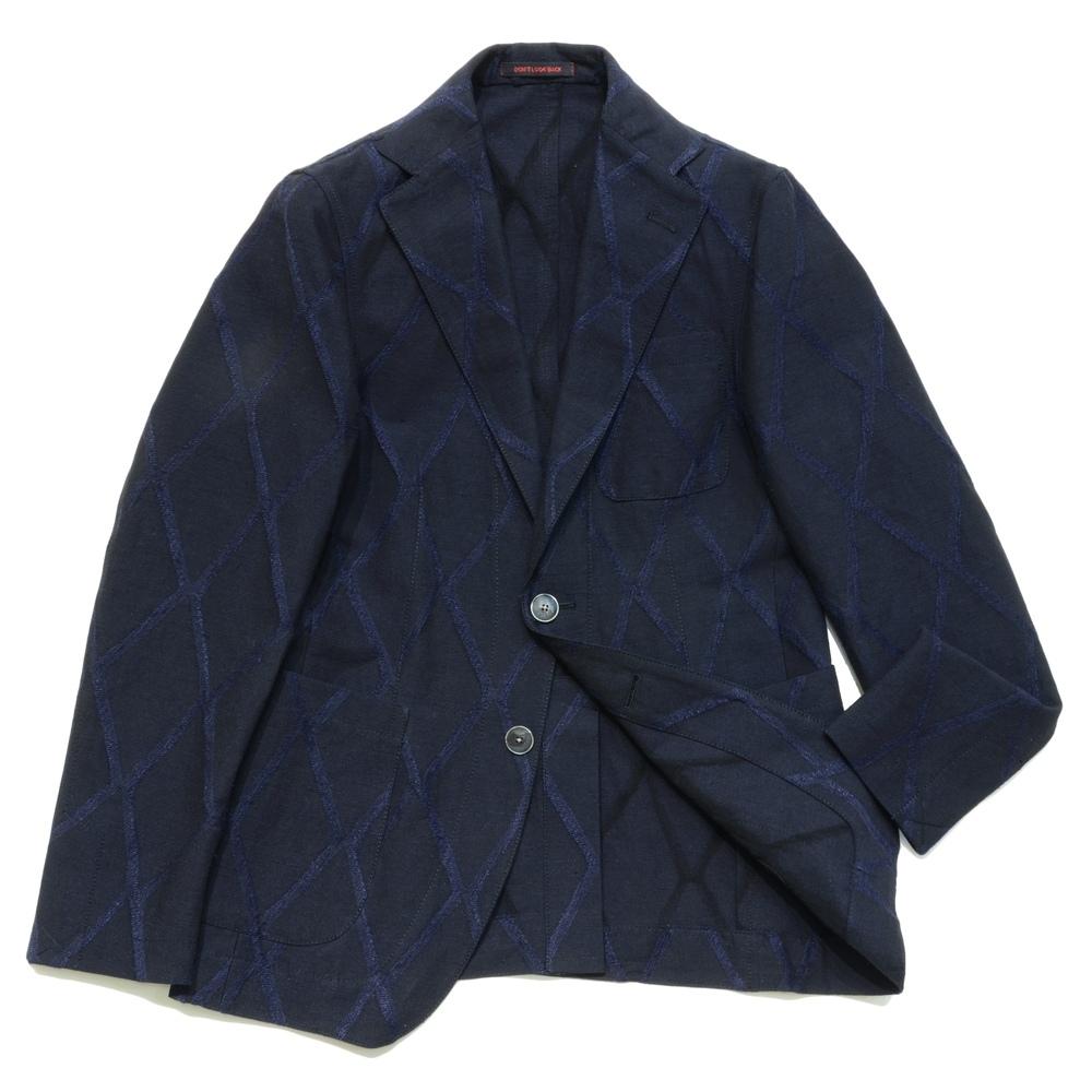 THE GIGI(ザ ジジ)リネンコットンシルクダイヤジャガード2Bジャケット ANGIE/D011 17061001039