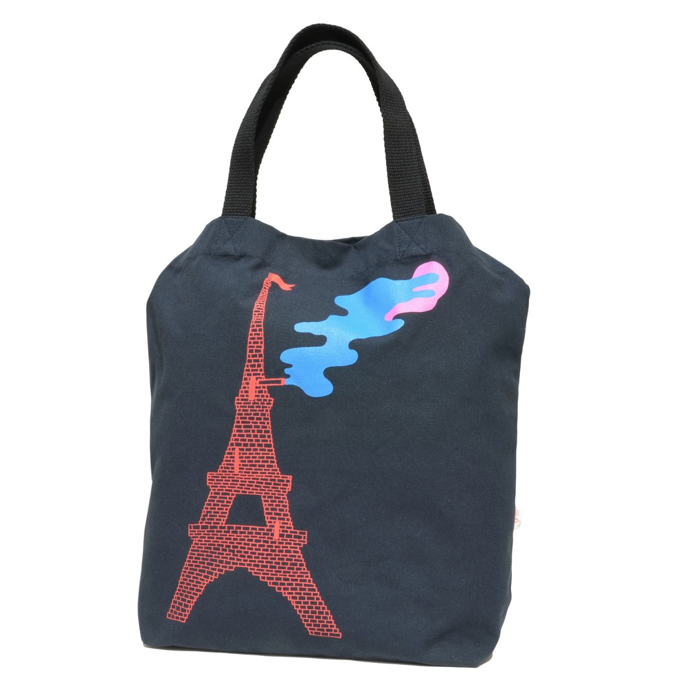 COMMUNE DE PARIS(コミューンドゥパリ)グラフィックプリントコットンキャンバス2WAYトートバッグ Tote Eiffel 18461002112