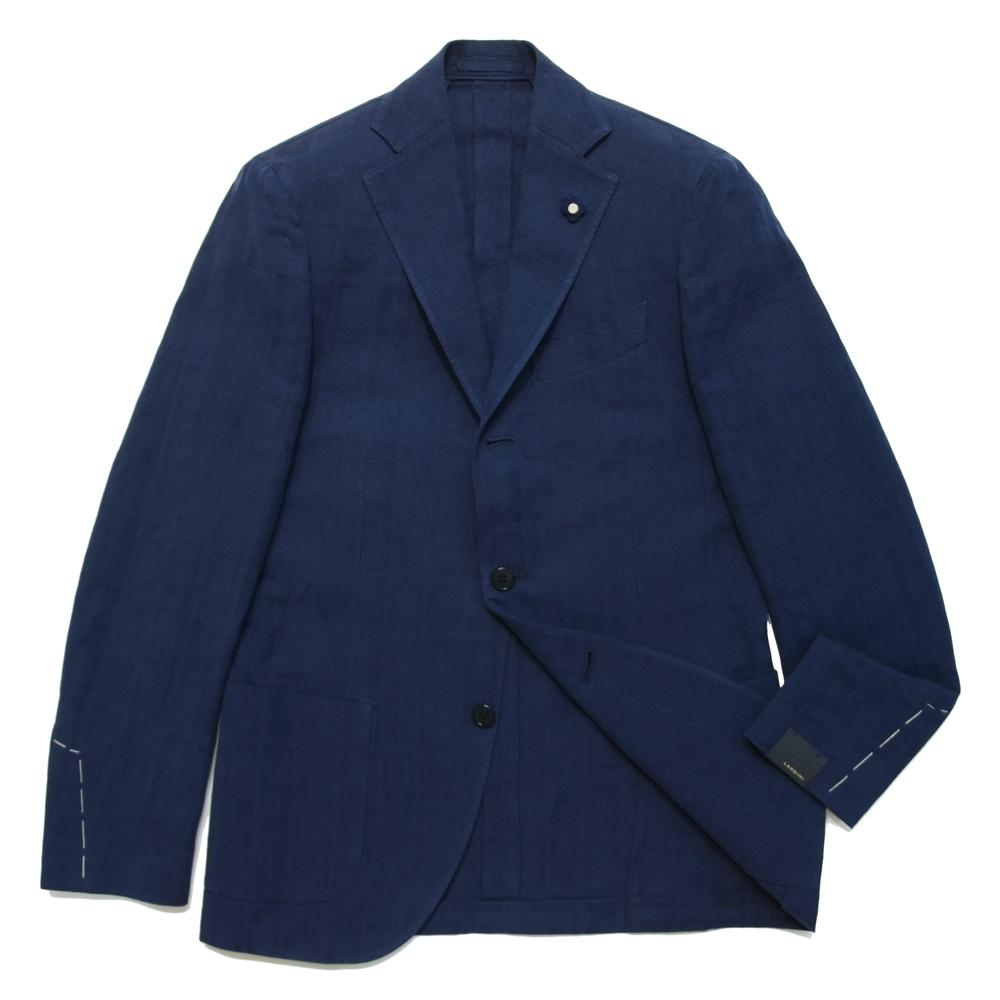 LARDINI(ラルディーニ)コットンリネンウインドーチェック3Bジャケット JI526AQ/RP46596 17061024022