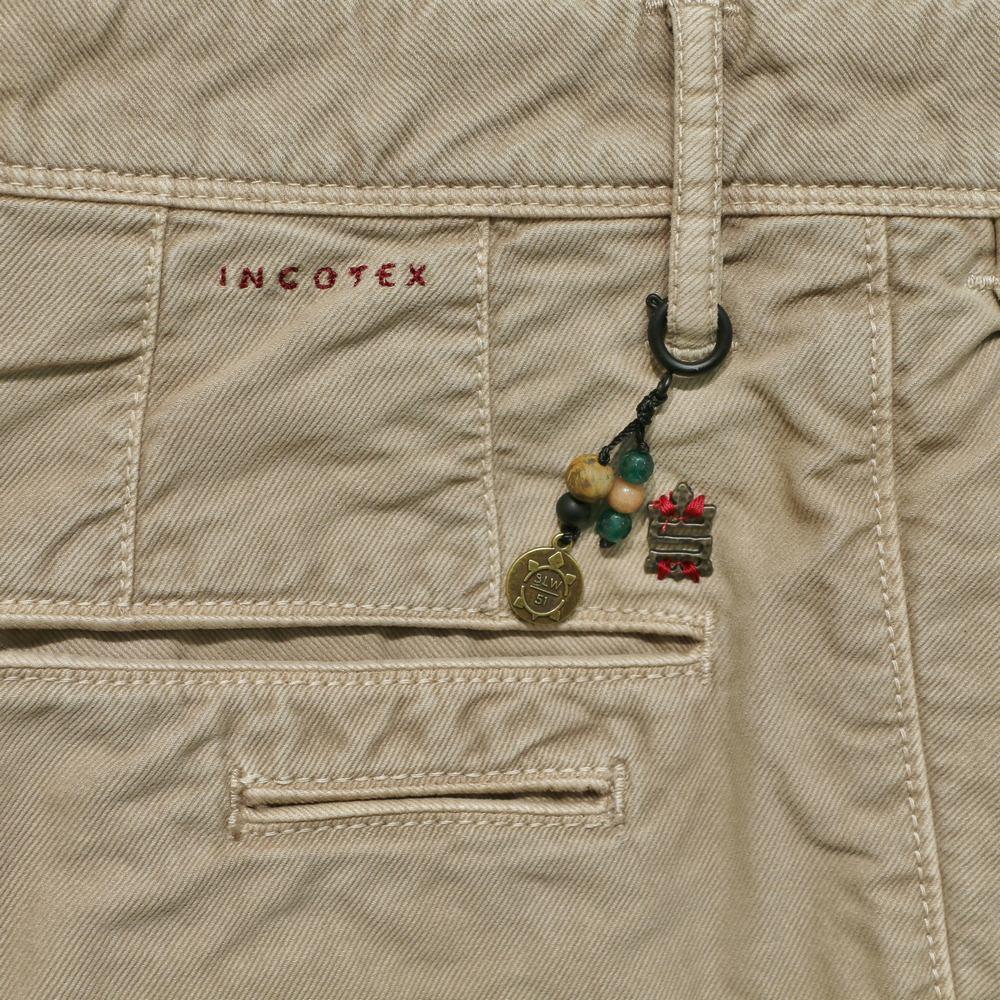 INCOTEX SLACKS 裤子(SKIN FIT Garment dye Cotton Stretch Twllt Tapered Chino 1ST619-40478)