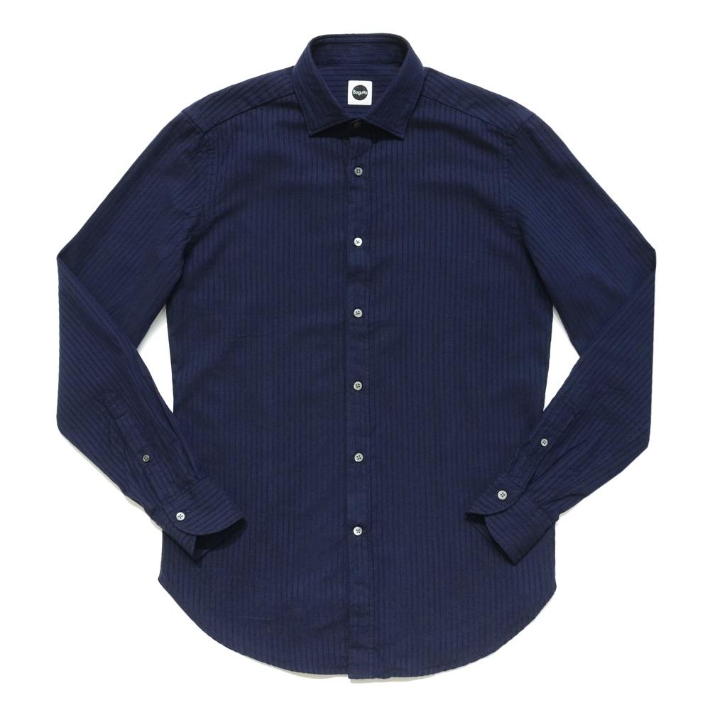 【SALE40】Bagutta(バグッタ)コットンツイルセルフストライプワイドカラーシャツ BERLINOJ/05683 11062001054