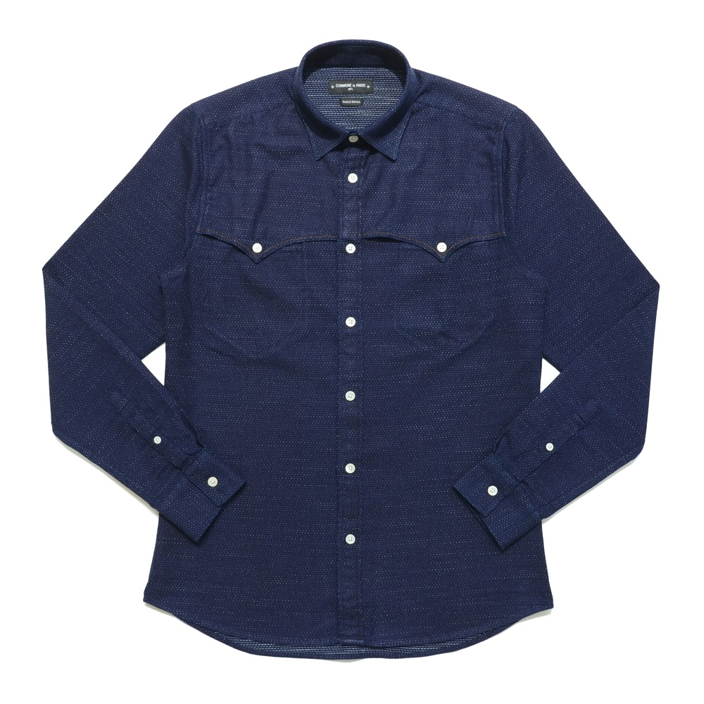 COMMUNE DE PARIS(コミューンドゥパリ)コットンジャガードピンドットウエスタンシャツ Shirt Western 11062002112