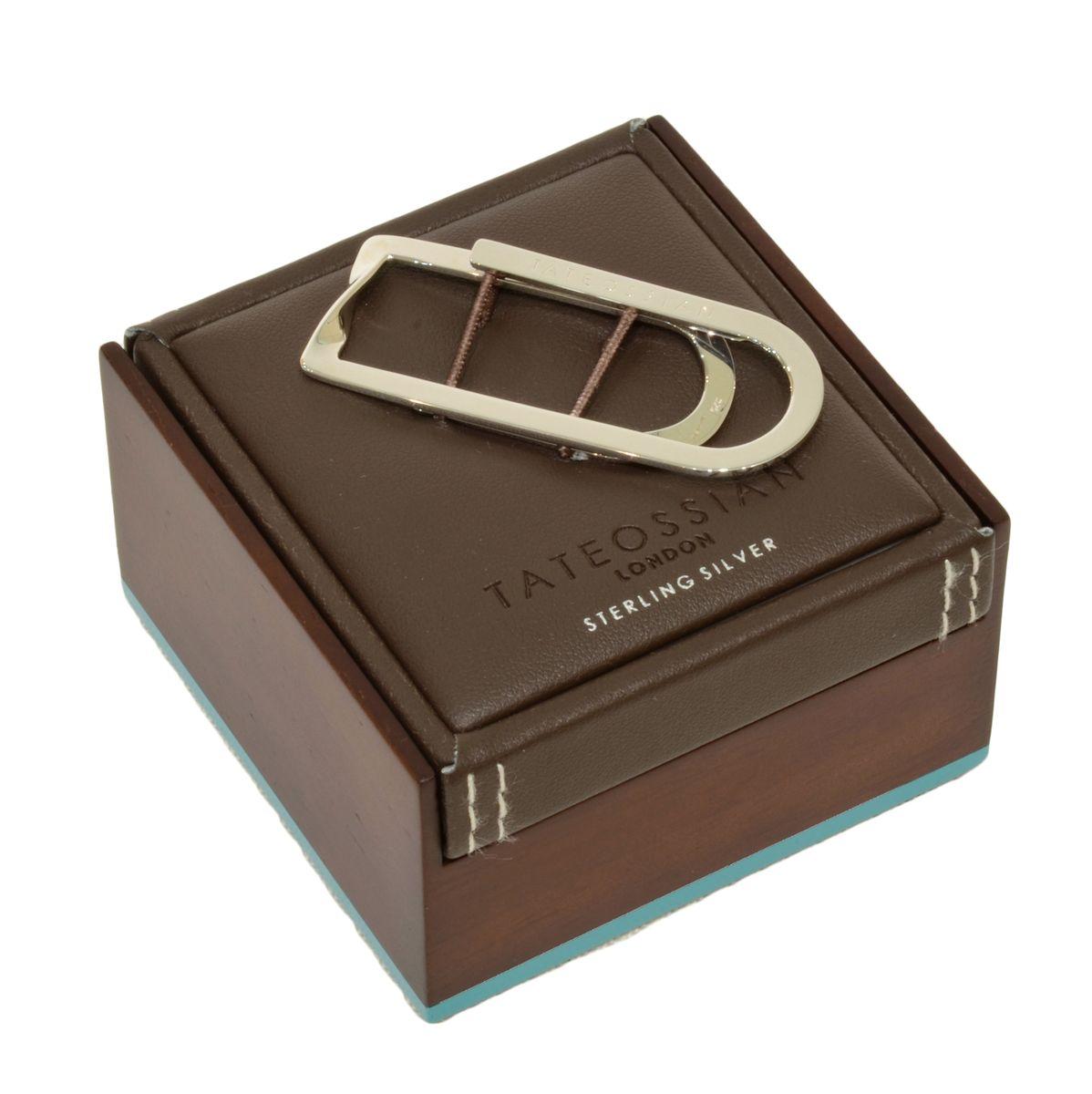 TATEOSSIAN(タテオシアン)スターリングシルバーツイストマネークリップ MC0036 19462209094