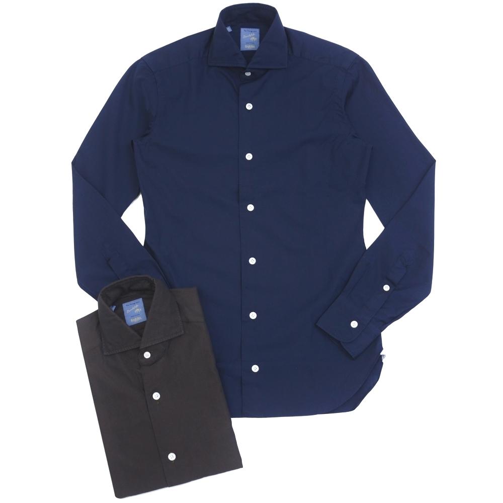 BARBA(バルバ)DANDY LIFE NEW BRUNO ブロードソリッドカッタウェイワイドカラーシャツ PZ1810 11062015022