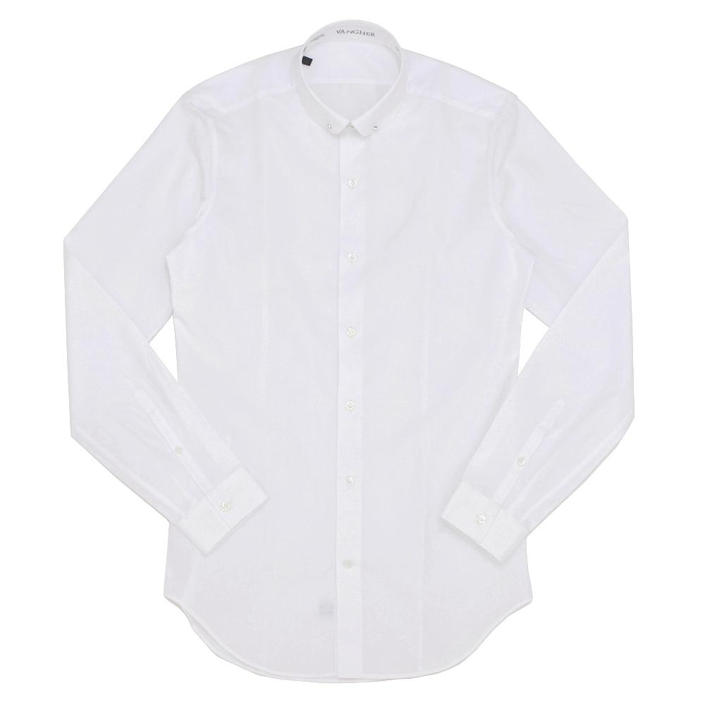 VANGHER(ヴァンガー)コットンブロードピンホールラウンドカラーシャツ VAE-75-5R/1029/000 11062200025