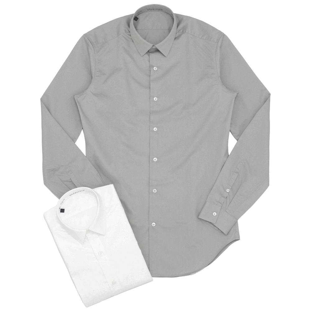 【SALE50】VANGHER(ヴァンガー)コットンツイルソリッドレギュラーカラーシャツ VAE-V1-5R/W070/000 11062201025