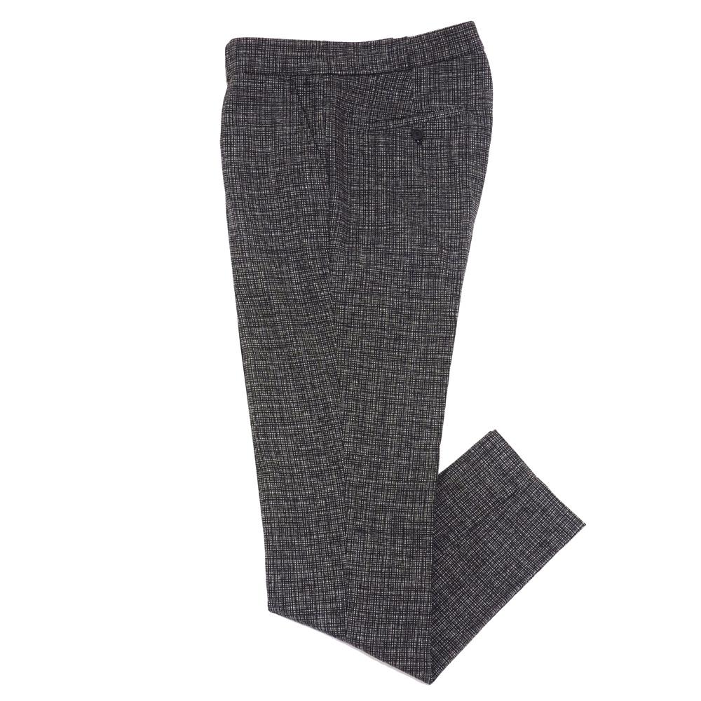 【SALE50】COMMUNE DE PARIS(コミューンドゥパリ)ウールナイロンマイクロチェック1プリーツテーパードパンツ Pants GN9 13062001112
