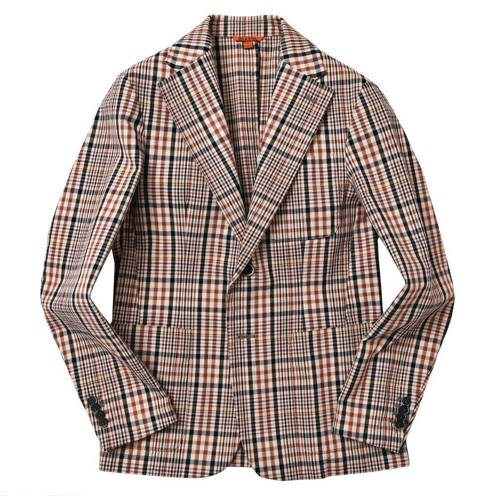 BARENA(バレナ)コットンギャバジンタータンチェック2Bジャケット Giacca Sario Bobo GIU13492441 17071001025