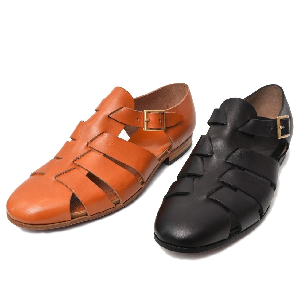 guji(グジ)×凛靴(りんか)レザーグルカシューズ Gurkha 15071000103