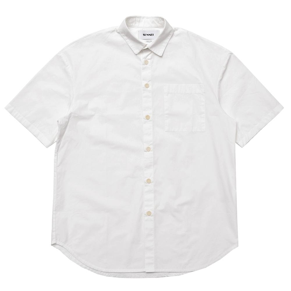 SUNNEI(サンネイ)ウォッシュドコットンポプリンレギュラーカラーS/Sシャツ SHOVRC17/P 11071011025