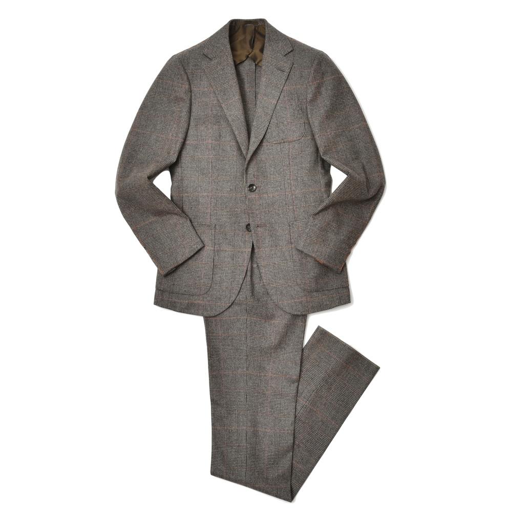 paideia(パイデア)ウールフランネルグレンチェック3B1プリーツスーツ I5061/3000 17172001027