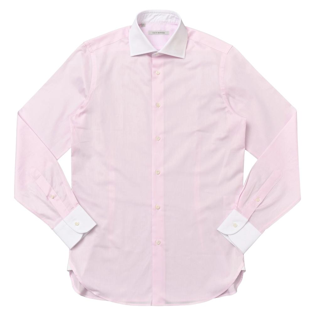 【SALE40】GUY ROVER(ギ ローバー)コットンツイルワイドカラークレリックシャツ W2530/572102 11172201027