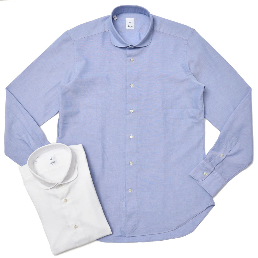 Giangi(ジャンジ)コットンピンヘッドラウンドカラーシャツ 3601 41072000025