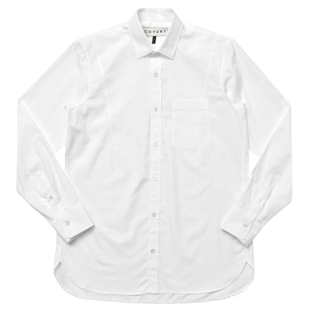 【SALE40】COVERT(コーベルト)コットンポプリンソリッドセミワイドカラーシャツ GM5033 11072006025