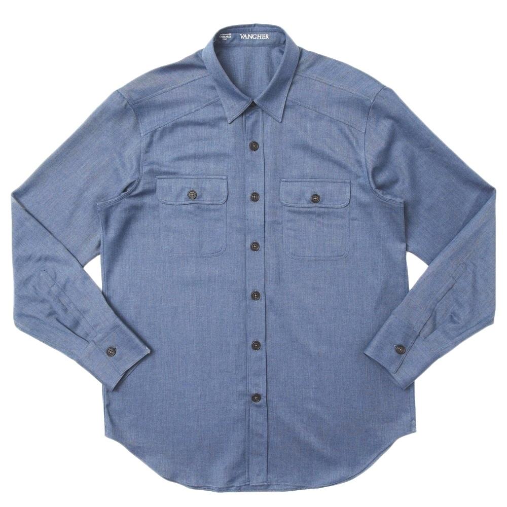 VANGHER(ヴァンガー)コットンツイルレギュラーカラーワークシャツ NEWTEXAS/K060 11072009025