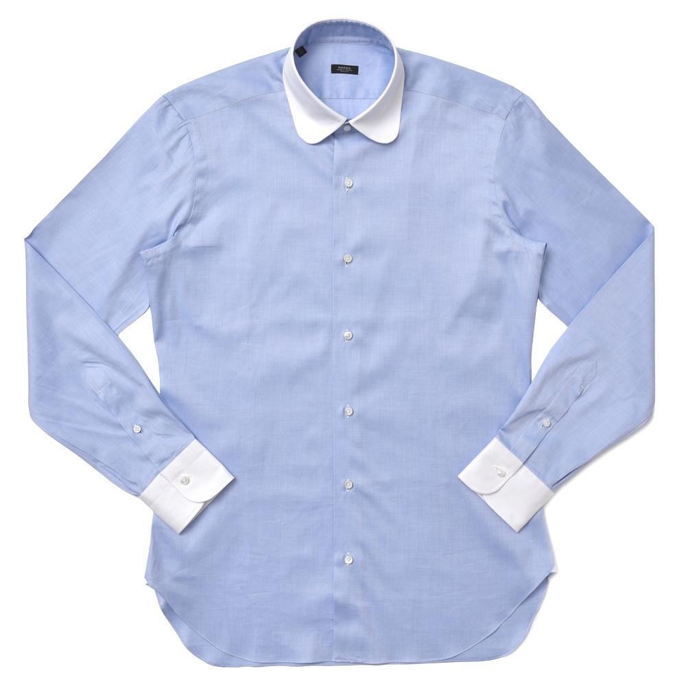 BARBA(バルバ)ROUND コットンロイヤルオックスラウンドカラークレリックシャツ I1U592PZ5010U 11172216022