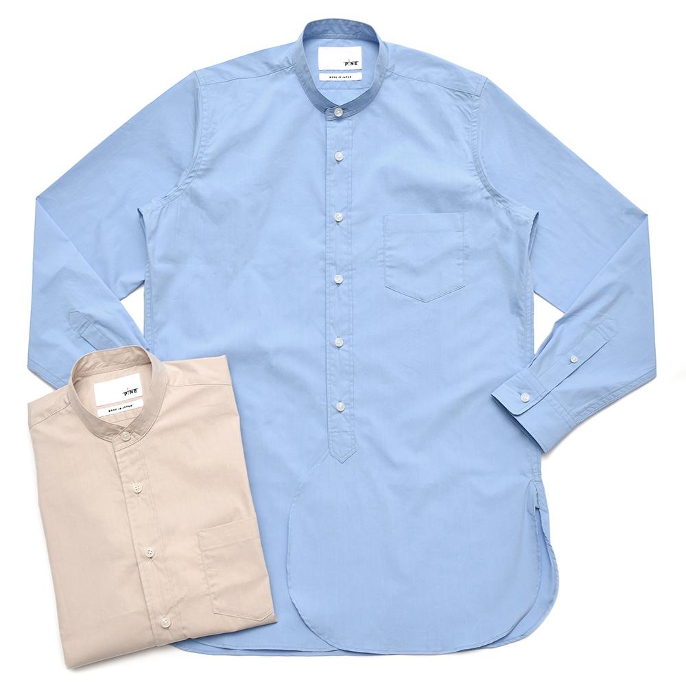 PINE(パイン)コットンポリブロードバンドカラーロングシャツ MS803A 11081400139