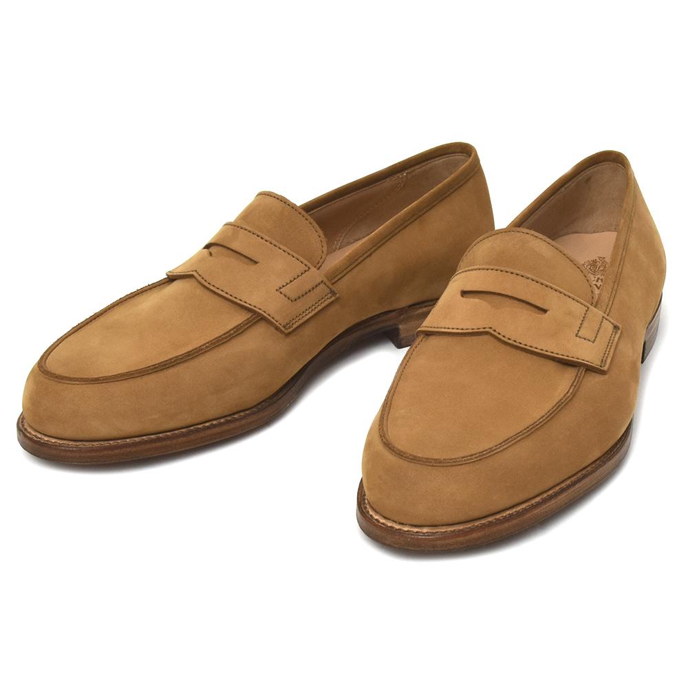 c02e148d5cd Crockett Jones (Crockett   Jones) calf nubuck penny loafers GRANTHAM2 6225  15081001048