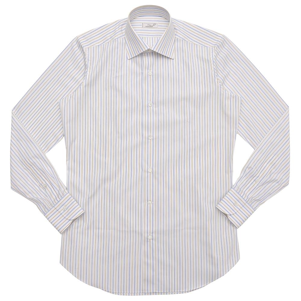 【SALE30】FRAY(フライ)コットンブロードオルタネイトストライプセミワイドカラーシャツ Byron/VR 11181001022