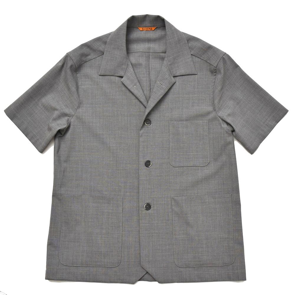 BARENA(バレナ)ウールストレッチオープンカラーS/Sシャツ OSU1798 14081406025