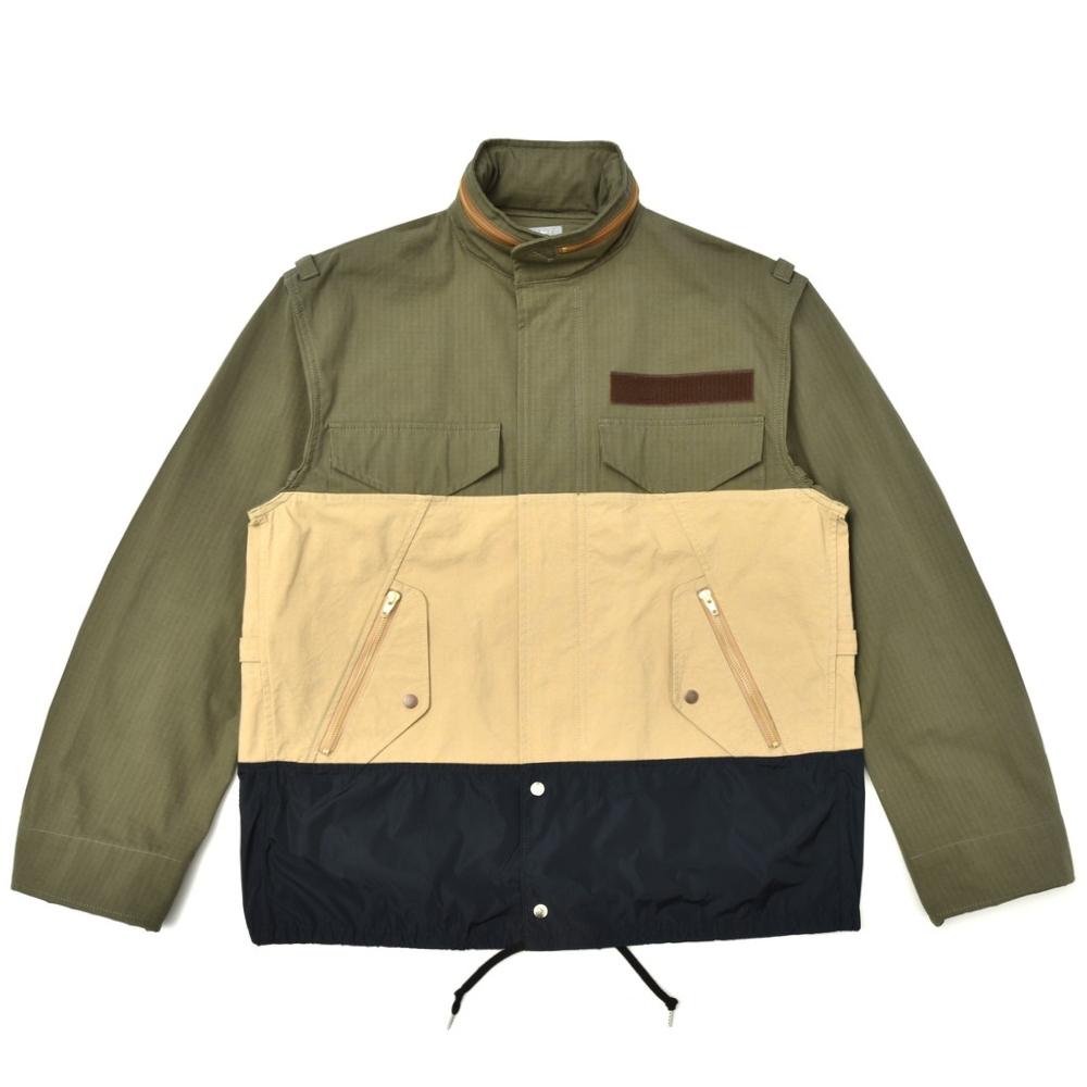 【SALE40】kolor BEACON(カラー ビーコン)コットンナイロンM-65フィールドジャケット 18SBM-G06132 14081402133