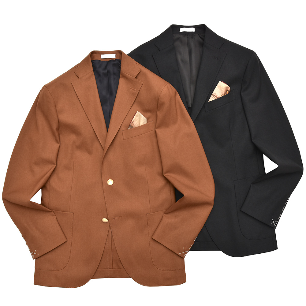 BOGLIOLI(ボリオリ)K.JACKETケージャケット ウールホップサックソリッド3Bジャケット(ポケットチーフ付き) N2902L/BAS041 17081000052