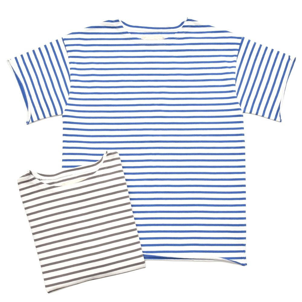 V::room(ヴイルーム)コットンボートネックボーダーバスクシャツ181778/8012 12181402043