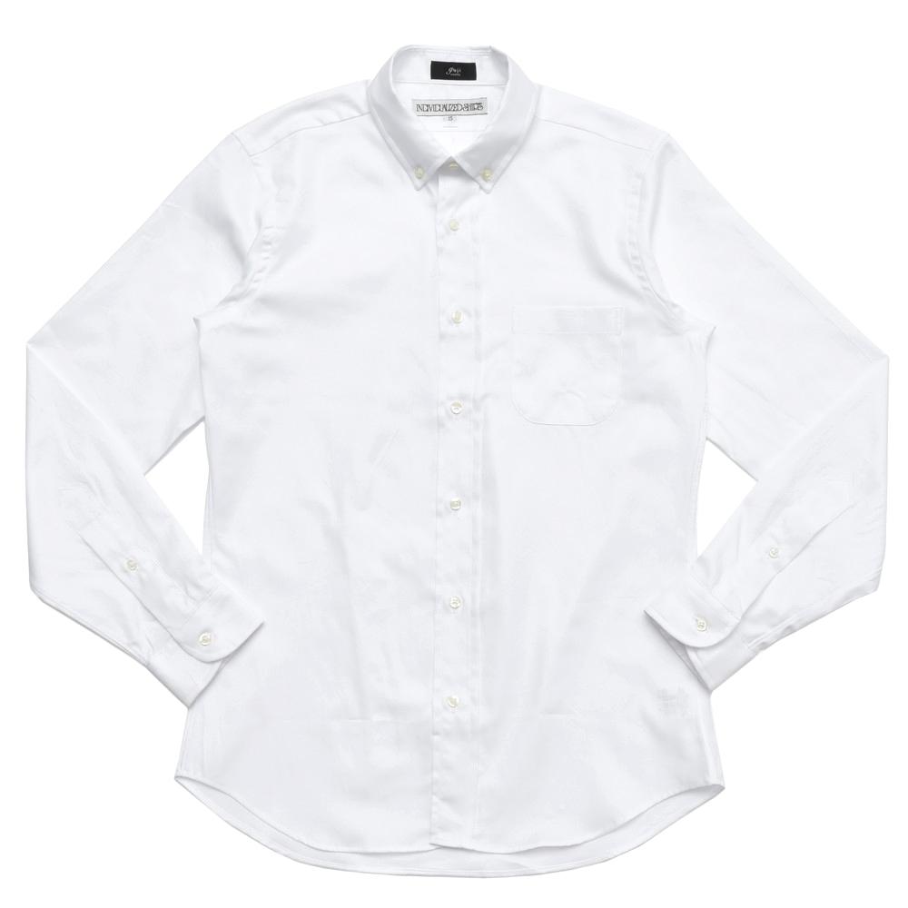 INDIVIDUALIZED SHIRTS(インディヴィジュアライズド シャツ)guji別注STANDARD FIT コットンロイヤルオックスボタンダウンカラーシャツ E29WOO-K 11082400126