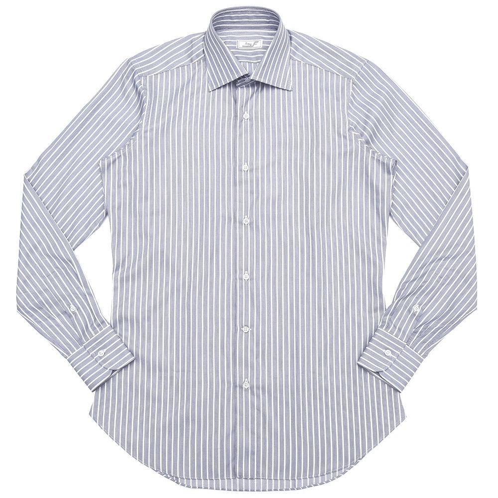 FRAY(フライ)コットンジャガードストライプセミワイドカラーシャツ Byron/Riva vintage/RV14 11082008022