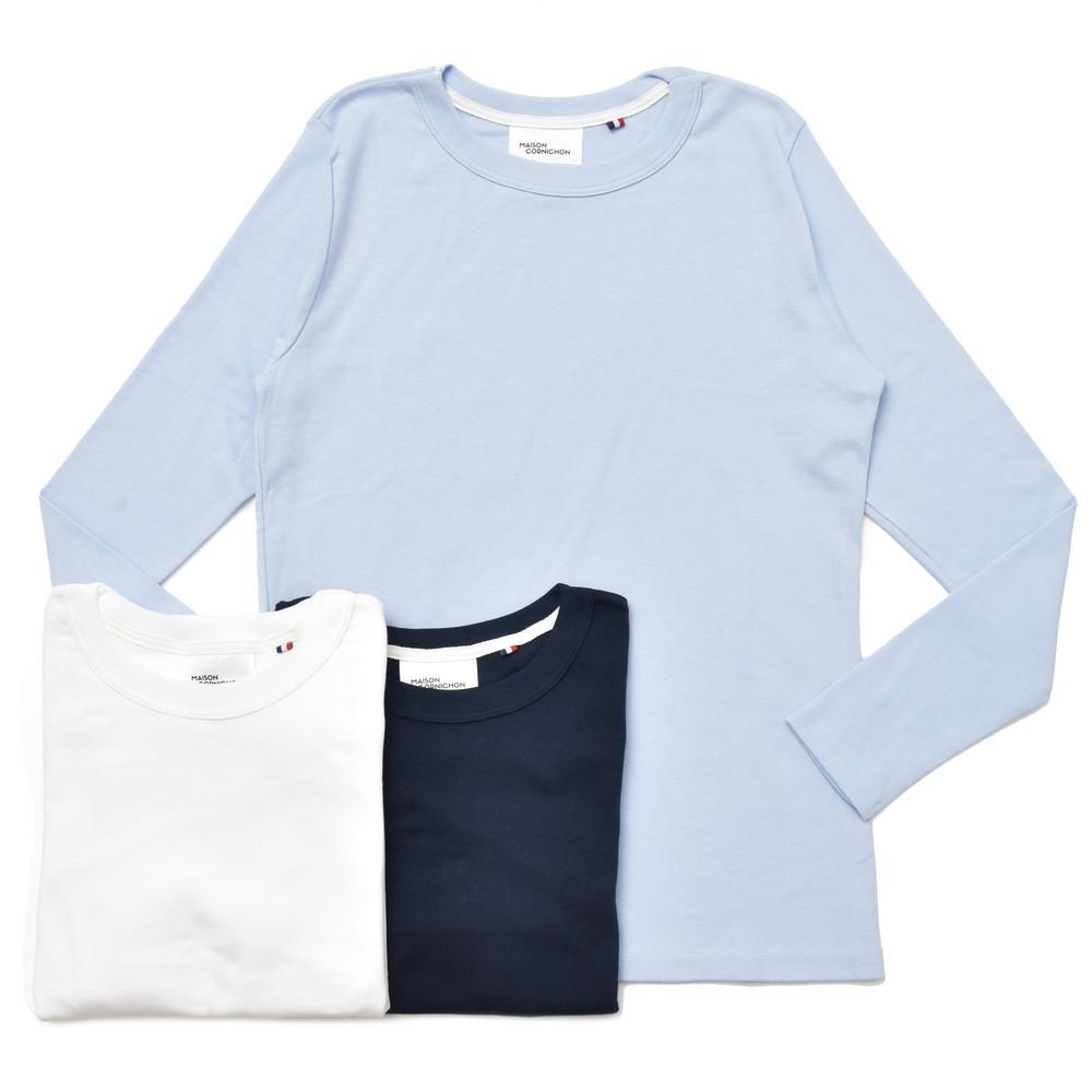 MAISON CORNICHON(メゾン コルニション)コットンリブL/Sクルーネックカットソー Long Sleeve T Shirt 12082400136