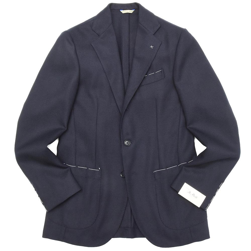 De Petrillo(デ ペトリロ)ウールホップサックソリッド3Bジャケット NUVOLA/ANACAPRI 260/599 17082005082