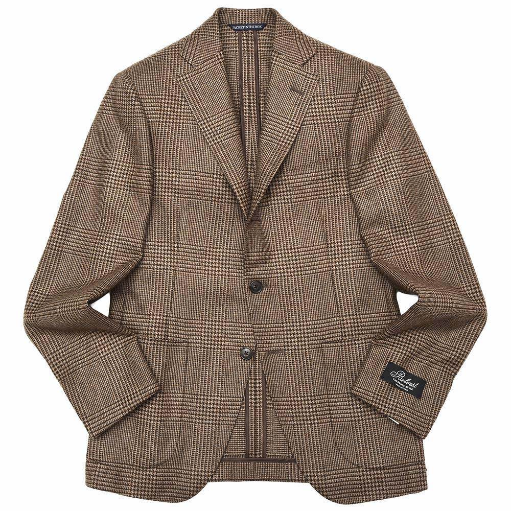 Belvest ベルベスト カシミアライトツィードグレンチェック3Bジャケット NEW JACKET IN THE BOX G10647 22354-28 17082204020 最新作,安い