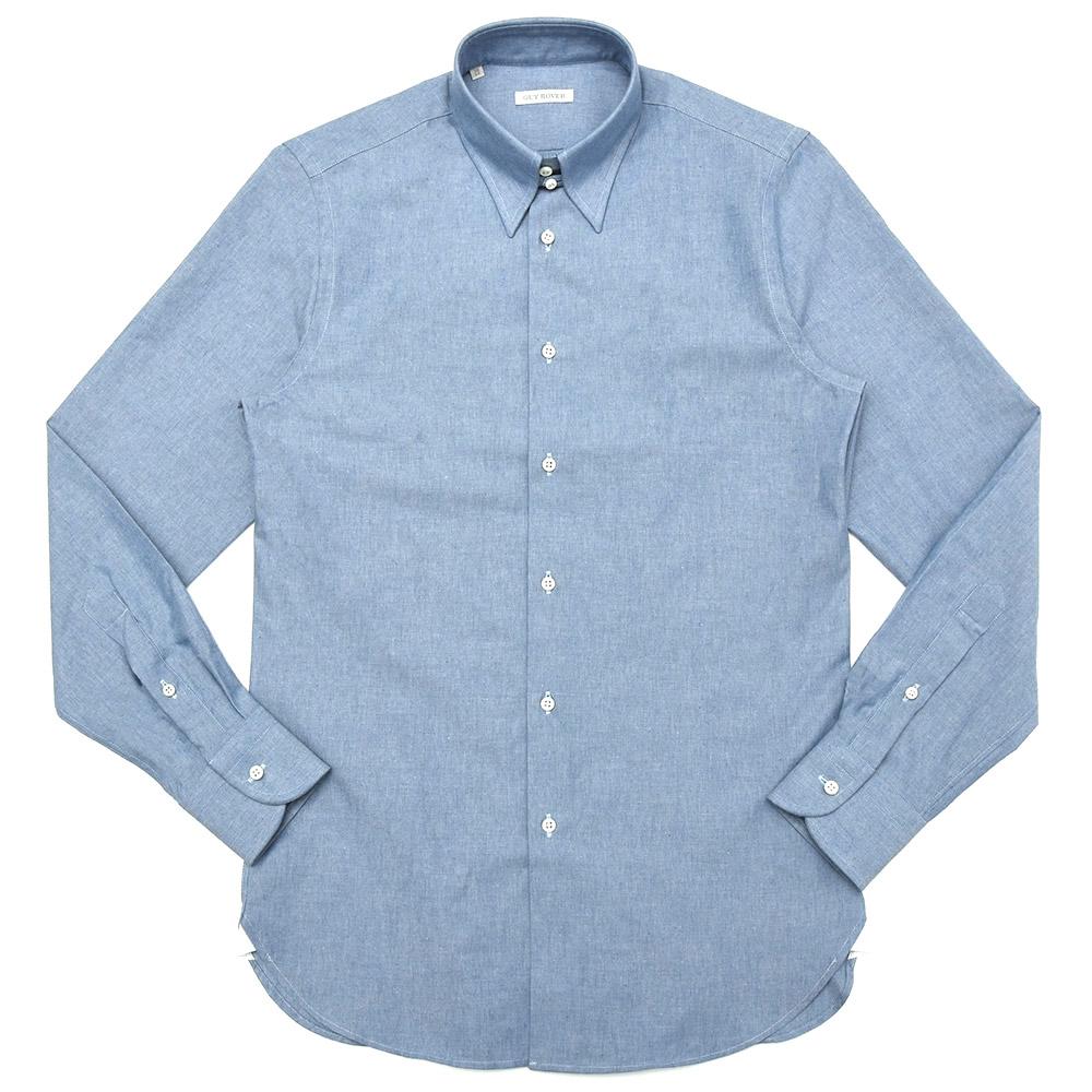GUY ROVER(ギ ローバー)コットンシャンブレーソリッドタブカラーシャツ W2800/582400 11082204027