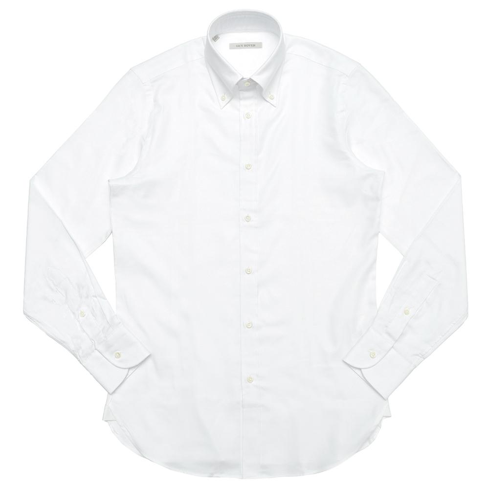 GUY ROVER(ギ ローバー)コットンピンオックスソリッドボタンダウンカラーシャツ W1940/582103 11182201027