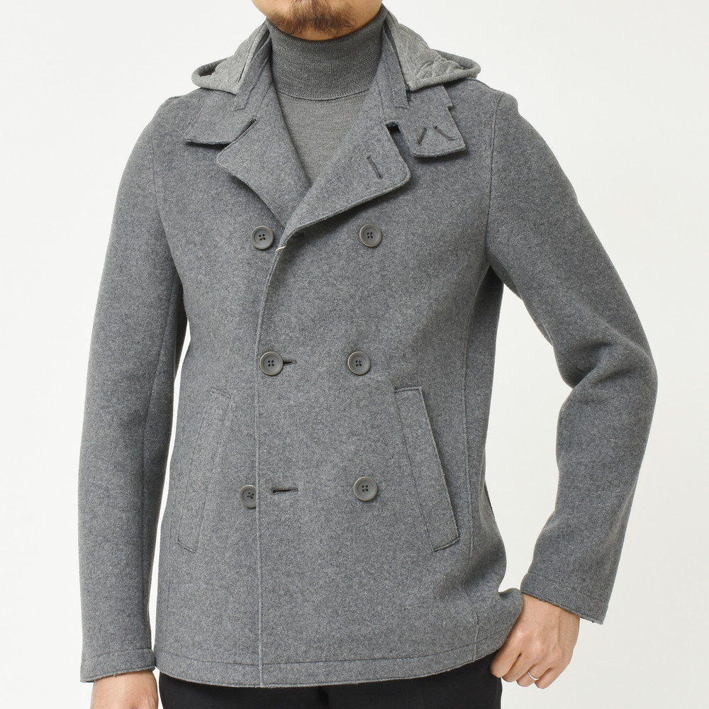 strong packing clearance prices catch 【MORE VARIATION FAIR】HERNO RESORT LINE Wool Nylon Soft Melton Hooded  peacoat PE012UR-33151 14186003132