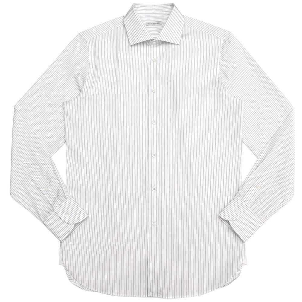 GUY ROVER(ギ ローバー)コットンブロードオルタネイトストライプワイドカラーシャツ W2530/582199 11191202027
