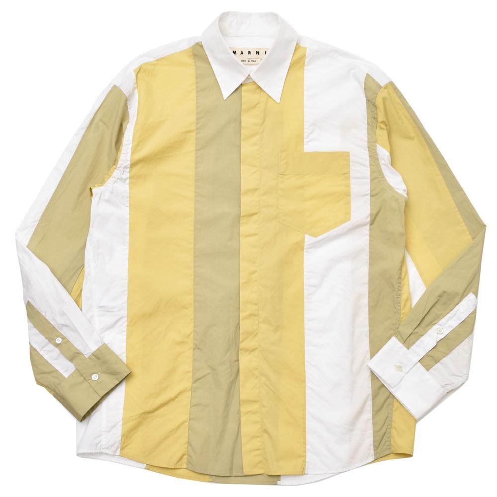 MARNI(マルニ)コットンポプリンマルチストライプレギュラーカラーシャツ CUMUWDL107 11081400138