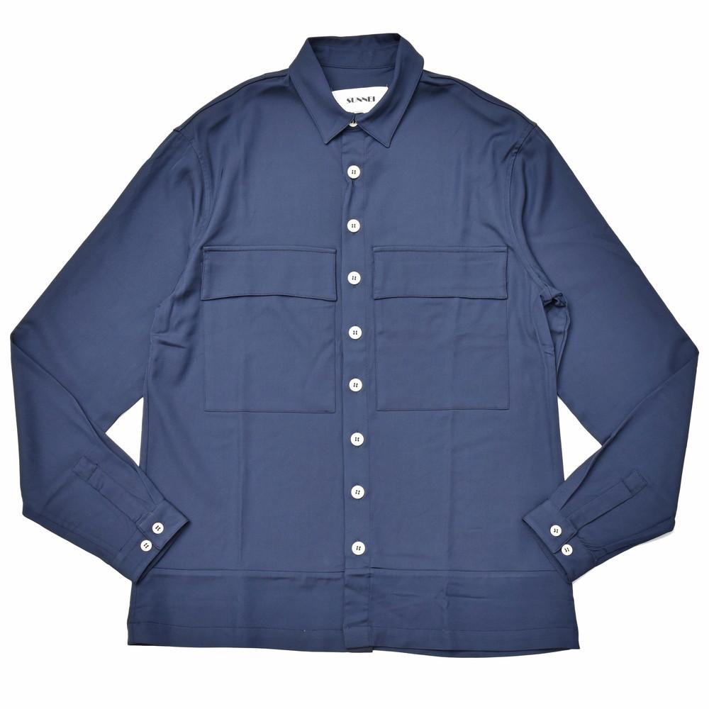 SUNNEI(サンネイ)レーヨンポリソリッドワークシャツ MS01ACB 11091405025
