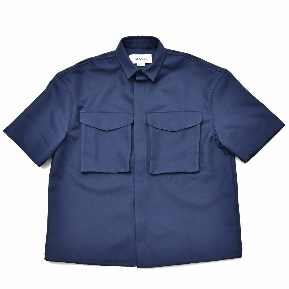SUNNEI(サンネイ)ポリエステルギャバジンS/Sワークシャツ MS03AC 14091404025
