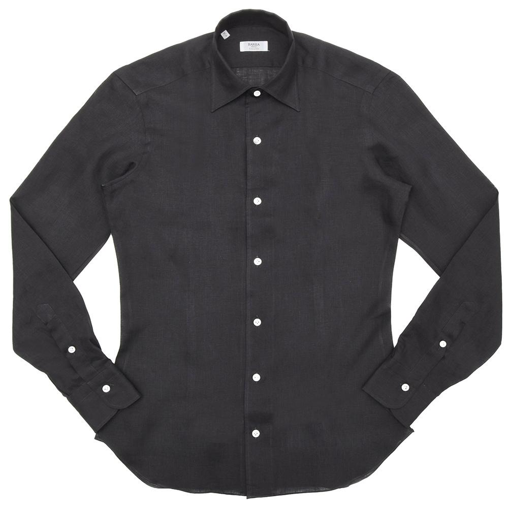 BARBA(バルバ)CULTOクルト リネンソリッドワンピースカラーシャツ I/BSport/2169/U 11191217022