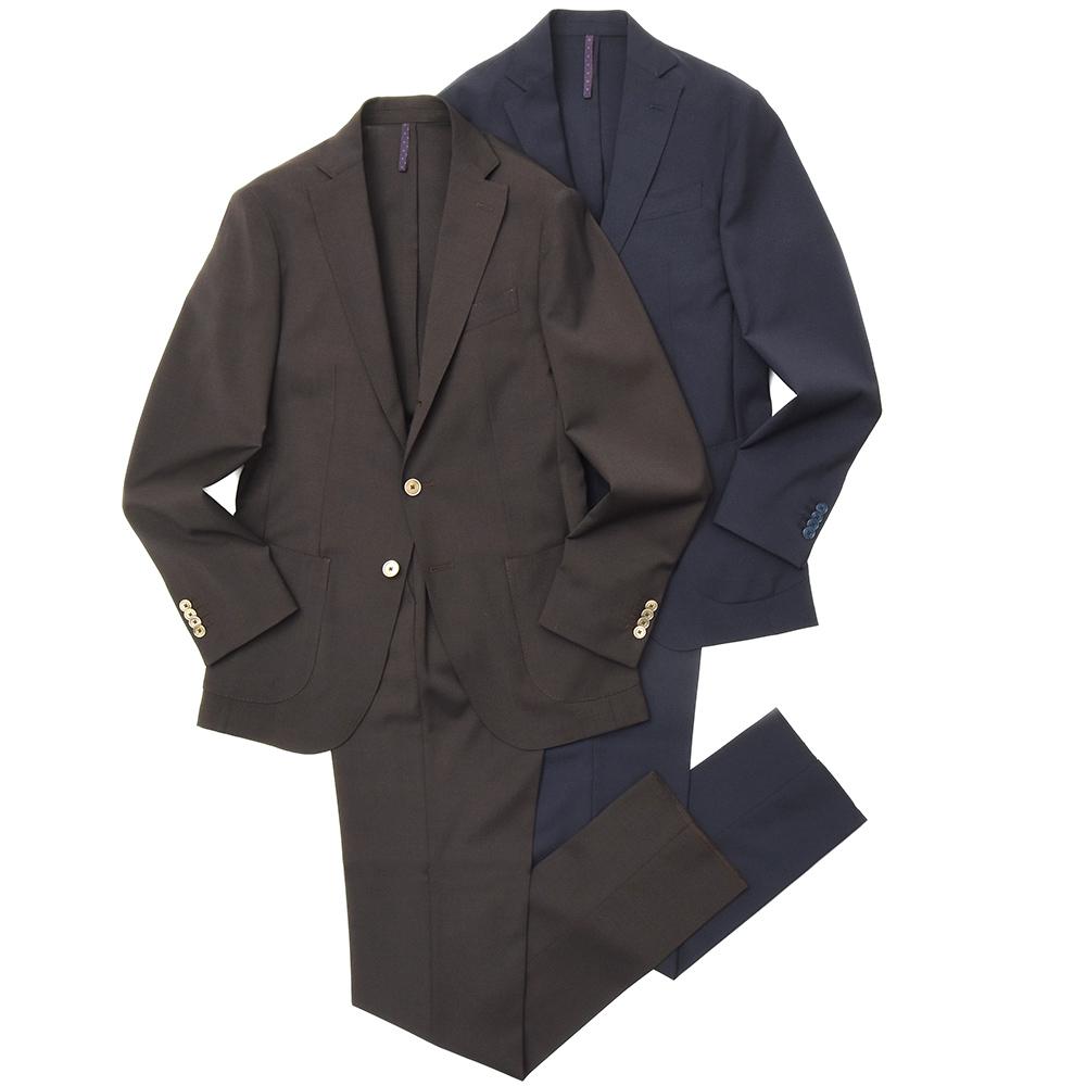 SANTANIELLO(サンタニエッロ)ポリウールストレッチトロピカルソリッド3Bパッカブルスーツ V500-20/E2489 17191000105