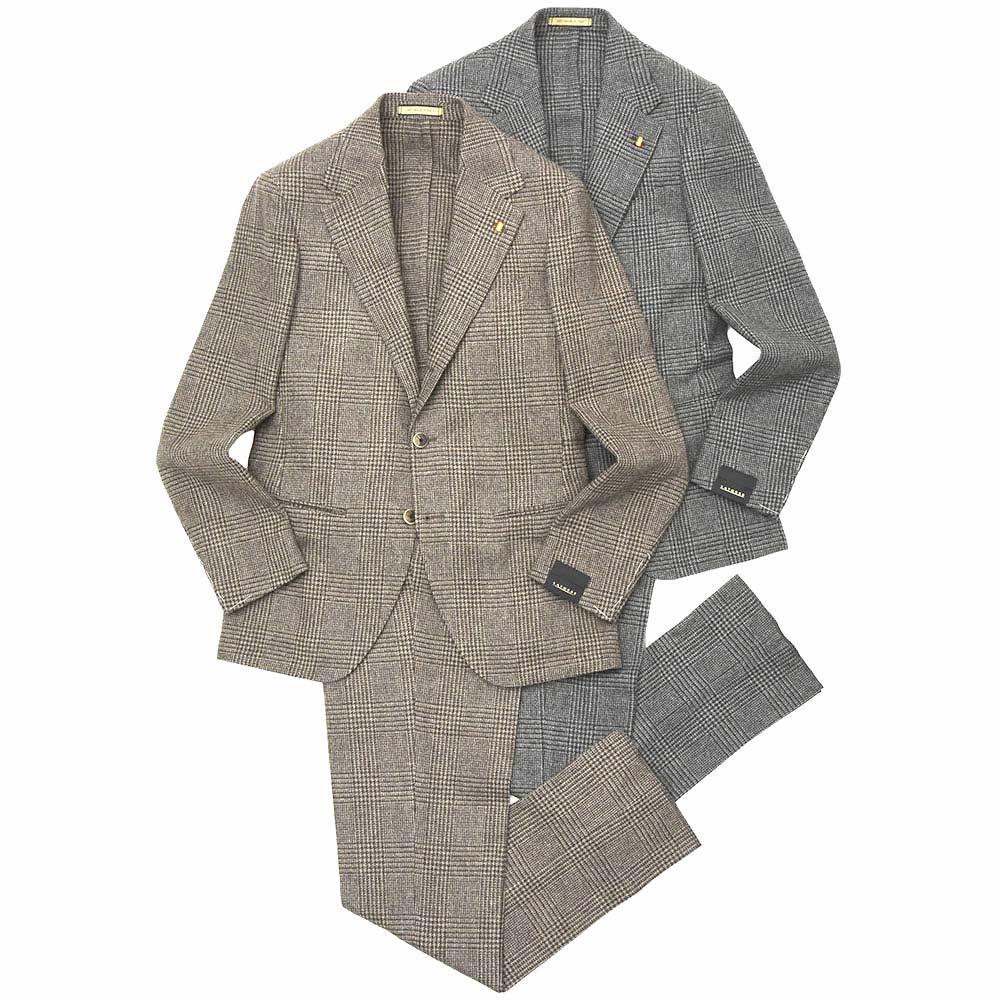 LATORRE(ラトーレ)ウールフランネルグレンチェック3B1プリーツスーツ ITHGES/81249 17196005052