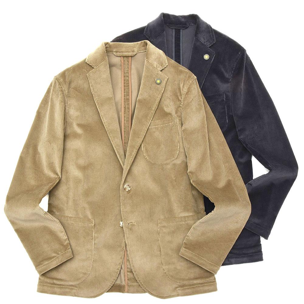 Giannetto(ジャンネット)コットンストレッチコーデュロイ2Bシャツジャケット 9203A281RIVS 17092000109