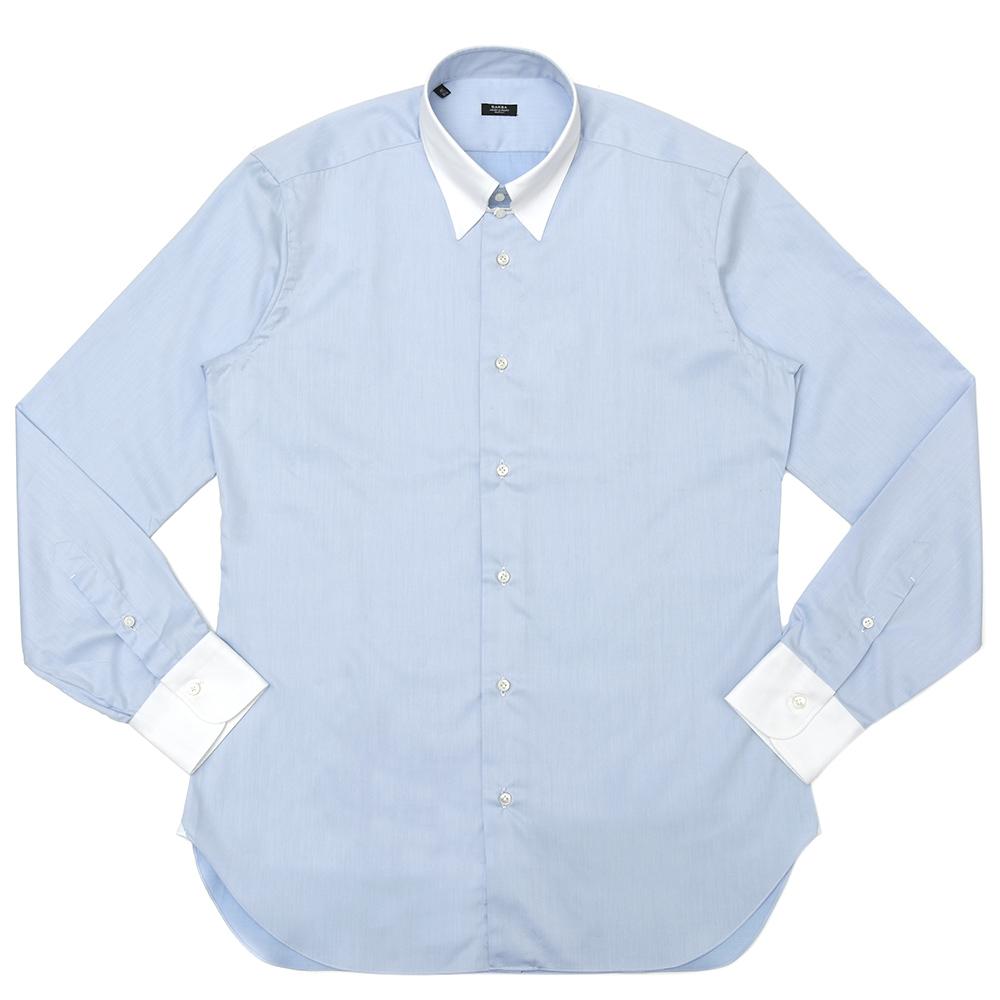 【SALE30】BARBA(バルバ)TAB コットンツイルソリッドタブカラーシャツ I/6870/U 11192209022