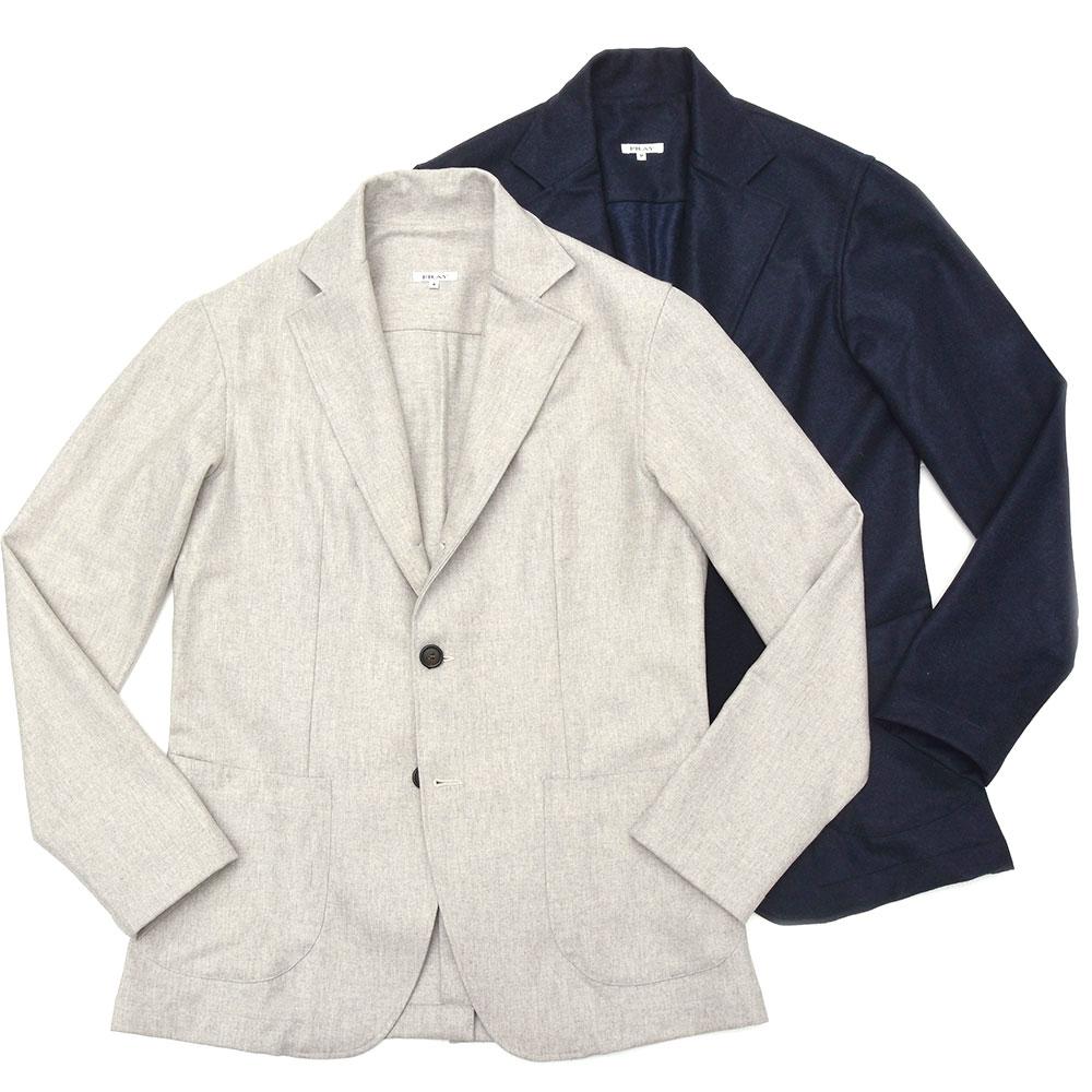 【SALE30】FRAY(フライ)ウールサキソニーソリッド3Bシャツジャケット Giacca Camicie/504.801 17092013022