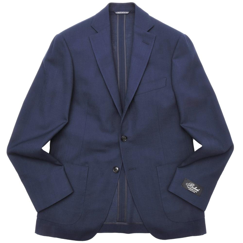 Belvest(ベルベスト)ウールホップサックソリッド3Bジャケット JACKET IN THE BOX G10647/01900-158 17001202020