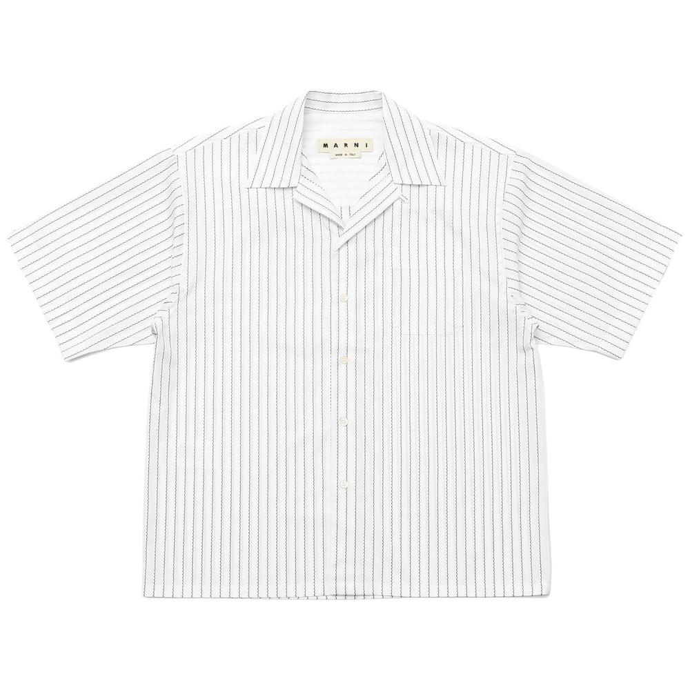 MARNI(マルニ)コットンポプリンウェーブストライプオープンカラーS/Sシャツ CUMU0054A0S52711 11001403138