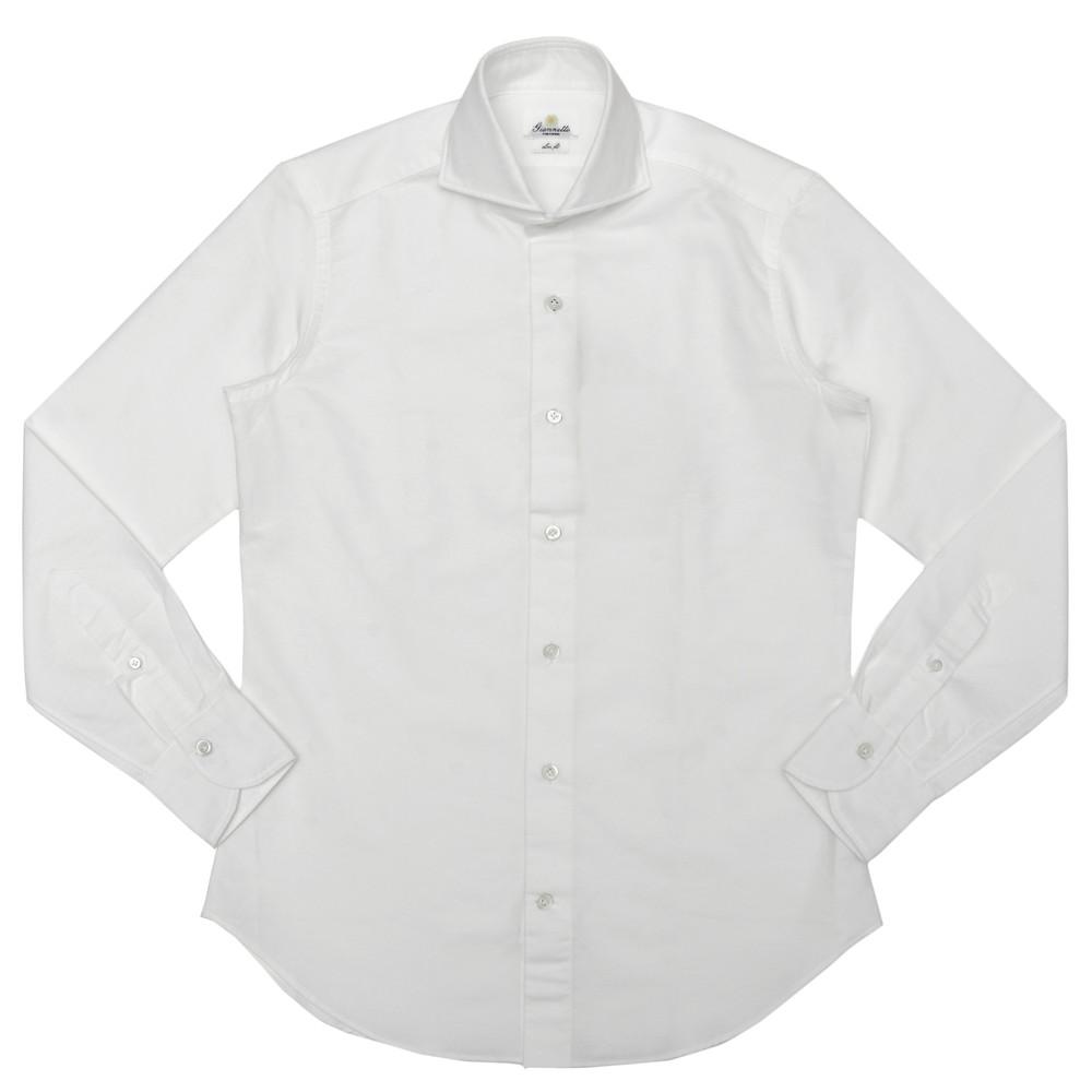 Giannetto(ジャンネット)コットンピンオックスソリッドワイドカラーシャツ SLIM FIT/14600L84 11005000109